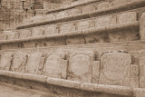 Seats Inscribed with Plays and Years of Production - Minack Theatre, United Kingdom