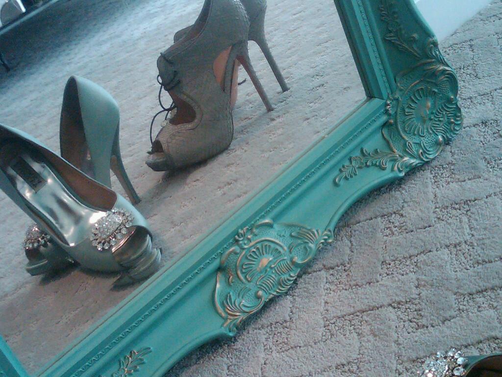 My sea foam blue wedding shoes