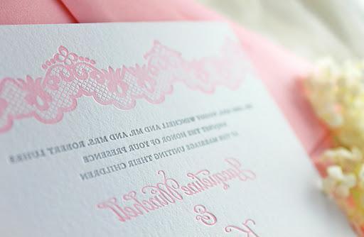 Lacy Wedding Invitations