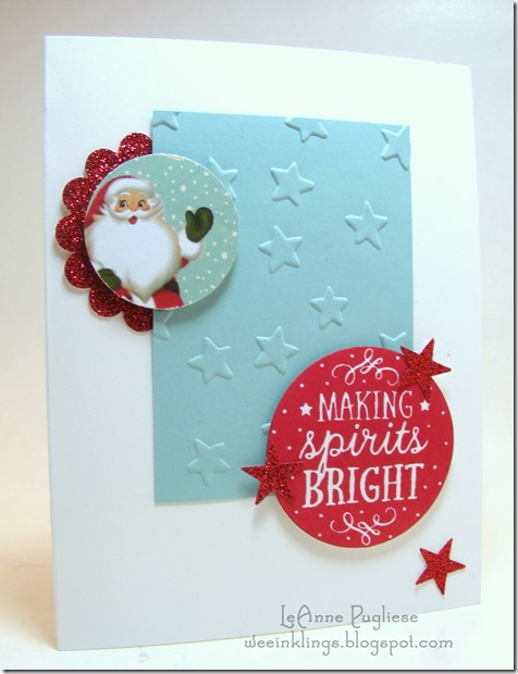 LeAnne Pugliese WeeInklings Among the Branches Santa Stampin Up