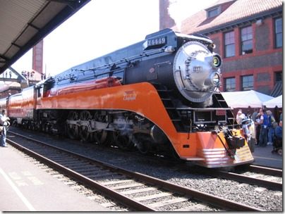 IMG_6080 Southern Pacific Daylight GS-4 4-8-4 #4449 at Union Station in Portland, Oregon on May 9, 2009