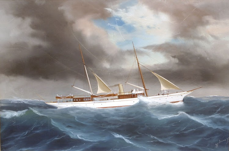 El yate a vapor WINTONIA. Gouache sobre papel de Antonio de Simone. De la web Vallejo Gallery.jpg