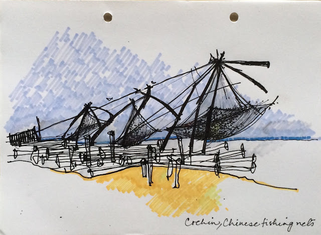 Cochin Chinese Fishing Nets Painting
