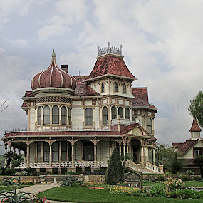 Morey Mansion by Nancy Young - Buildings & Architecture Architectural Detail ( building, mansion, architecture,  )