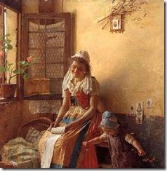 Gaetano-Chierici-1838-1920-Amor-de-mãe