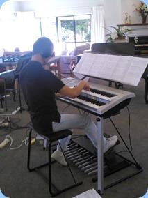Taka Iida playing his D-Deck keyboard