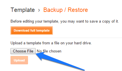 upload-blogger-template-from-backup