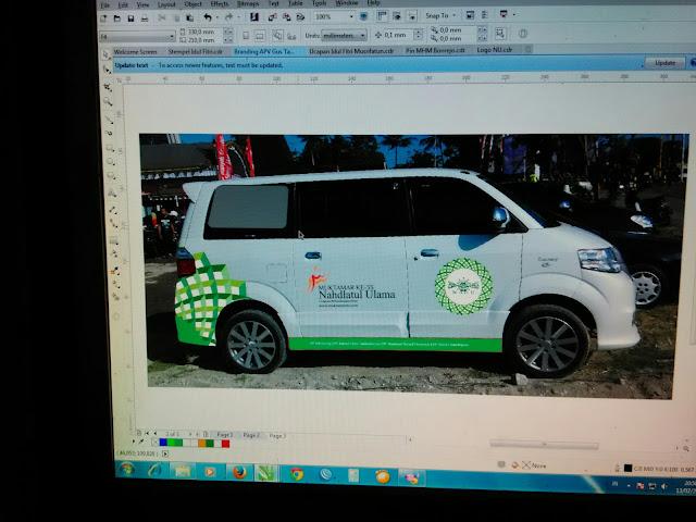 Branding Mobil APV Muktamar NU