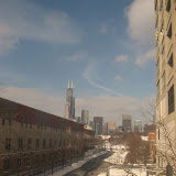 The Chicago skyline seen from the Amtrak window 01142012b