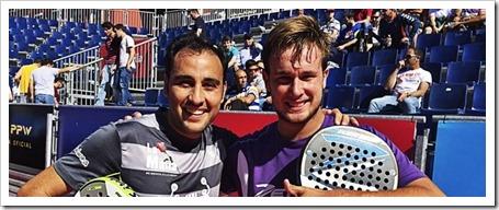 Javier Limones y Ernesto Moreno. Los andaluces han conseguido meterse por vez primera en los cuartos de final de un Open del circuito World Padel Tour