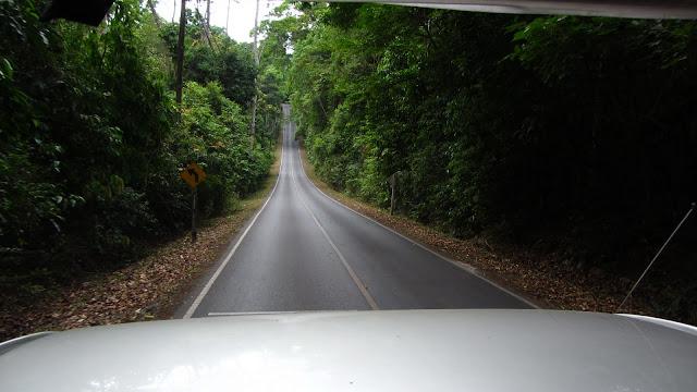 Heading into Khao Yai National Park.