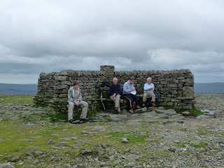 Ingleborough Summit Shelter - but not our party!