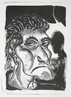 Dej BAO. 028 . Un Chemin dans la Pierre . 1977 .Lithographie . 55 x 36,5 cm