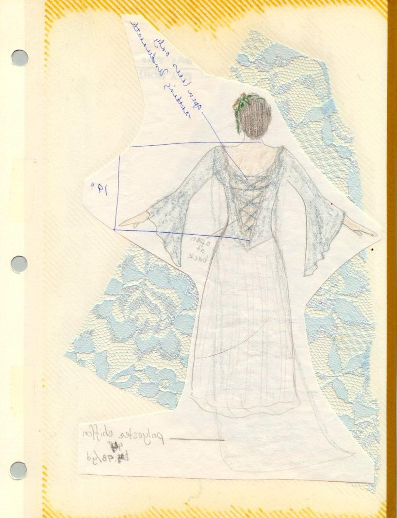 Sketch of dress - back