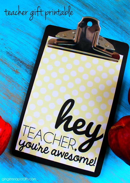 teacher gift printable at GingerSnapCrafts.com
