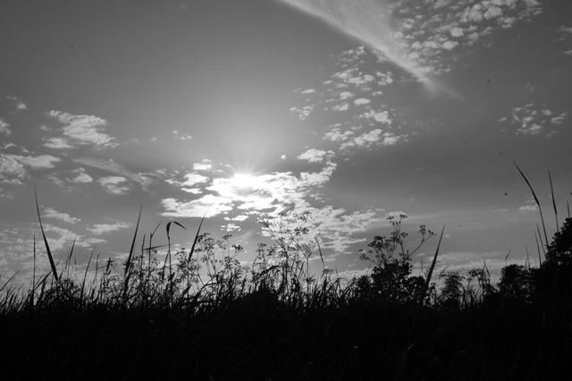 big blue skies in Norfolk