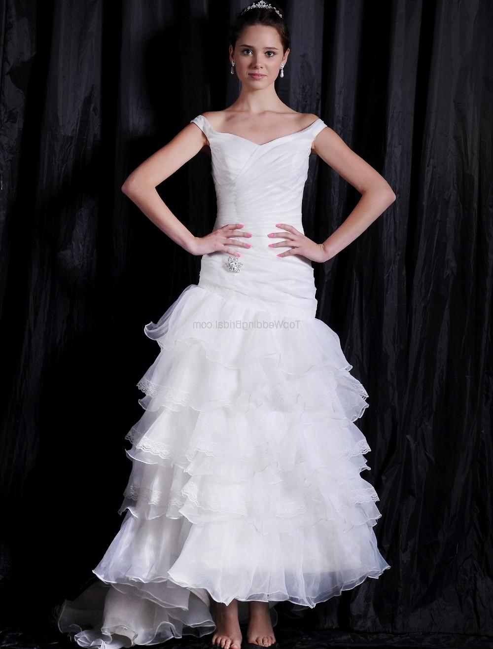 Satin Organza Bridal Dress