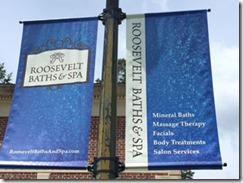 Saratoga Roosevelt spa sign