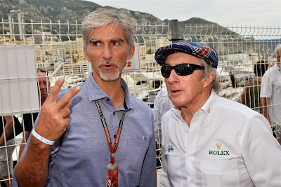 Деймон Хилл и Джеки Стюарт на Гран-при Монако 2014