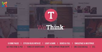 Wethink - Single & Multi Page Joomla Theme