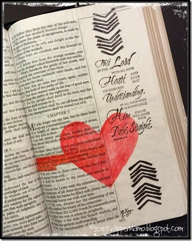 Bible Art Journaling Prov 3-5&6