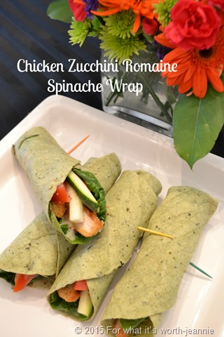 chicken zucchini Romaine wrap