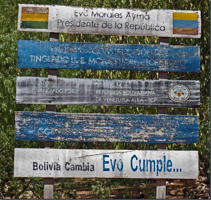 Bolivien ändert EVO vollendet