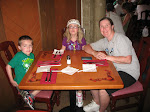 Bryan, Hannah and Lori having lunch in the Akershus restaurant in Norway in Epcot in Disney 06072011