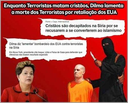 Dilma não defendeu terroristas, más o diálogo para evitar retaliações ao Brasil