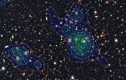 distribuição da matéria escura