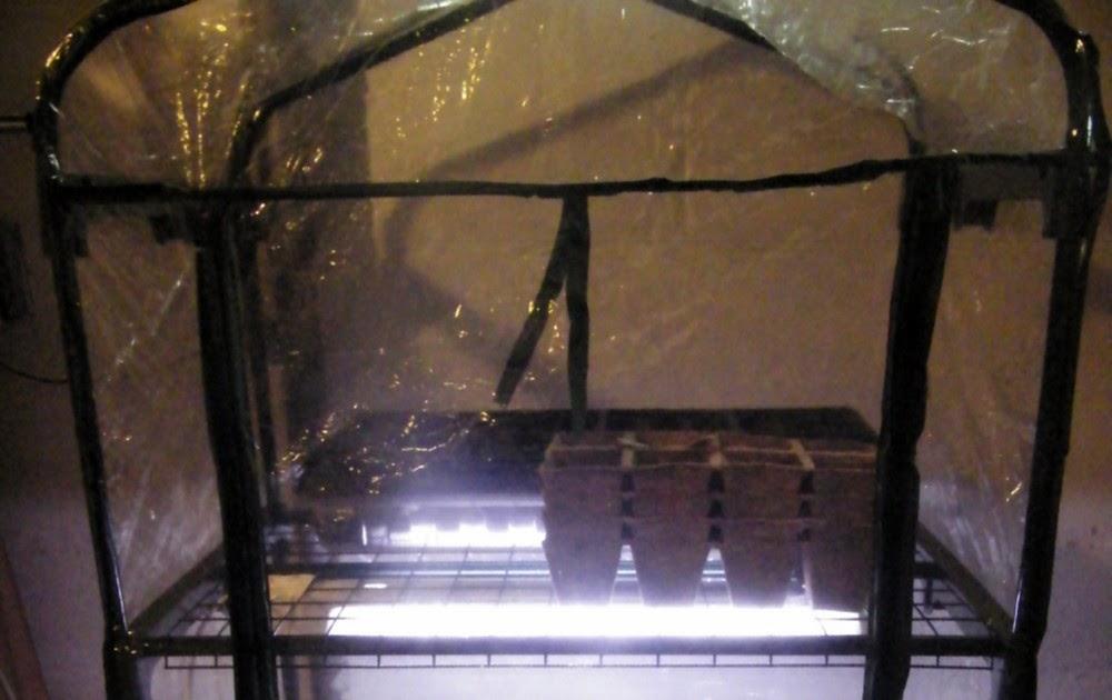 minneapolis homestead diy inexpensive seed starting setup or indoor greenhouse. Black Bedroom Furniture Sets. Home Design Ideas