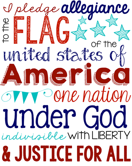 Pledge of Allegiance Printable at GingerSnapCrafts.com #usa #printable #patriotic_thumb[6]
