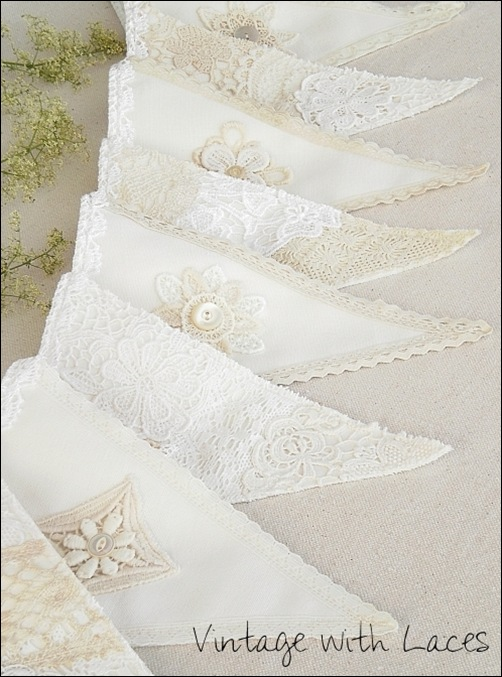 Lace Bunting by Vintage with Laces