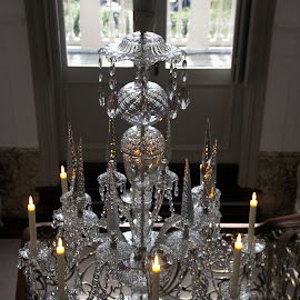 Antique chandelier 1 by Anita Berghoef - Artistic Objects Antiques ( glass chandelier, chandelier, the netherlands, amsterdam, museum, architecture, antique, museum van loon )