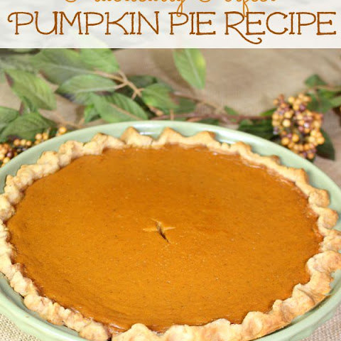 Always in Season Pumpkin Pie