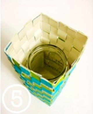 Cách làm bình hoa từ hộp sữa - 197461