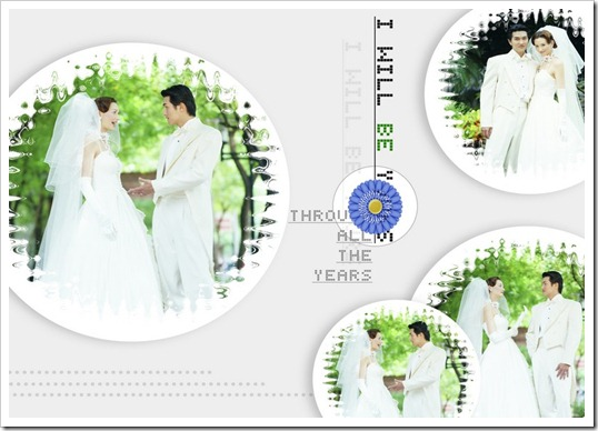 Wonderful spherical wedding template PSD