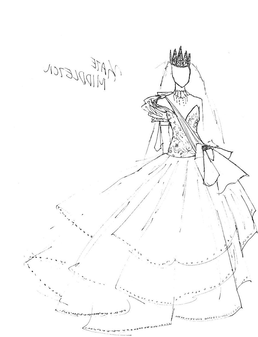 Deep v white dress draing