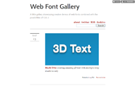 Web Font Gallery