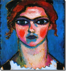 Alexej von Jawlensky - Young Girl with Green Eyes