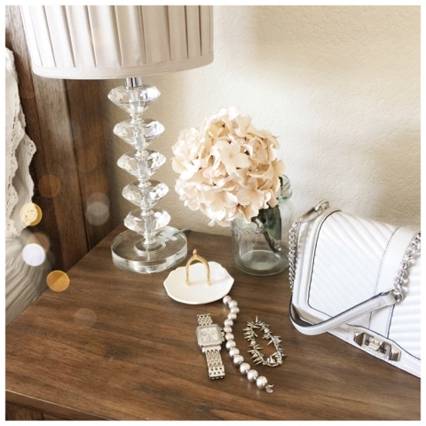 nightstand decor parlor girl