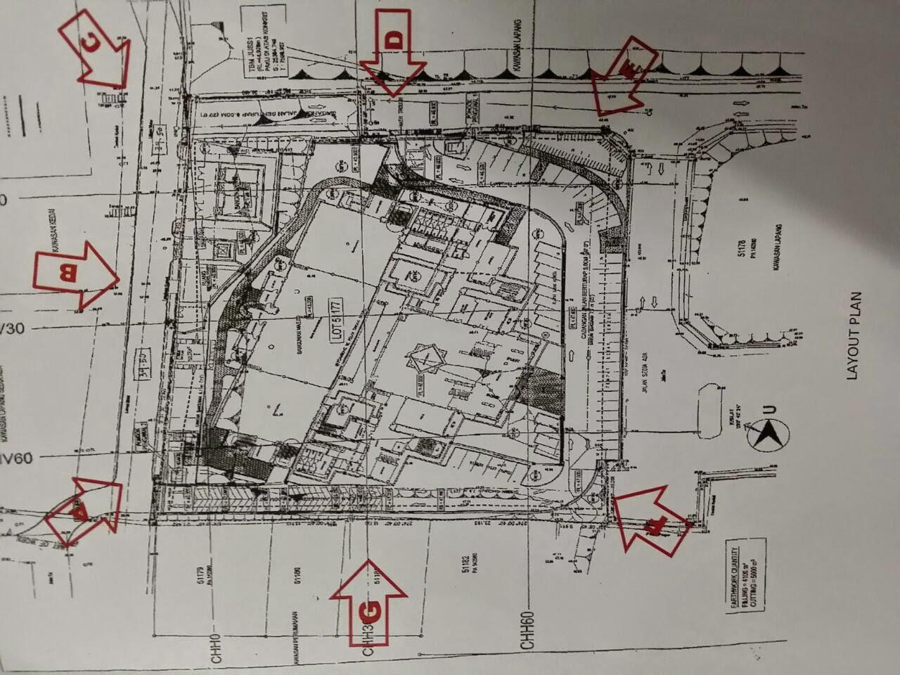 Dr shafie abu bakar masuk tapak kerja tanah dan for Plan arkitek