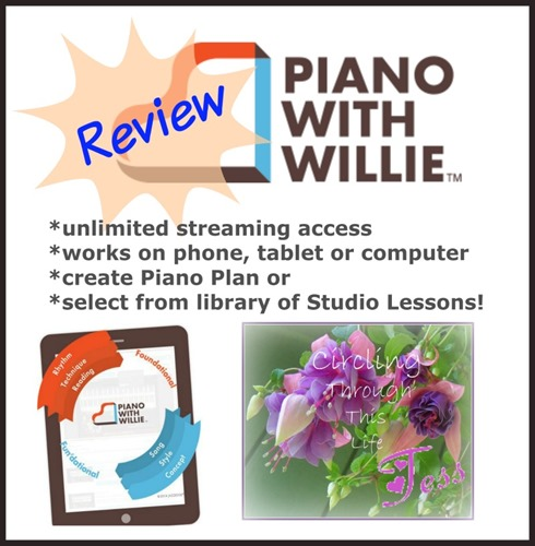 PianoWithWillie Review by Tess at Circling Through This Life