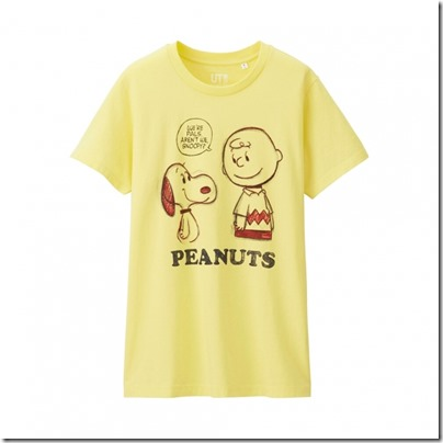 UNIQLO UT X Peanuts Movie Women Short Sleeve Graphic T-Shirt 12