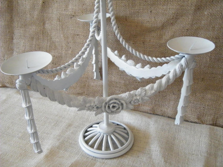 White Candelabra Centerpiece