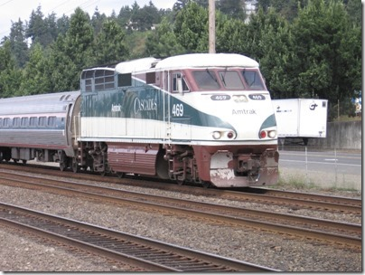 IMG_8692 Amtrak Cascades F59PHI #469 in Kalama, Washington on August 25, 2007