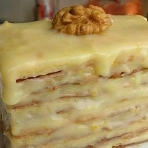 Puff Cake With Condensed Milk