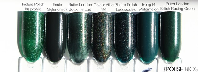 7-Shades-of-Green-Nailpolish-5