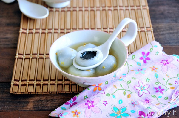 Check out this video tutorial on how to make this authentic Black Sesame Dumplings with Ginger Syrup 薑茶芝麻湯丸  http://uTry.it