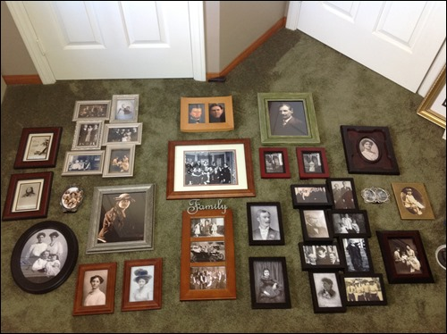 Ancestor wall_laid out on carpet